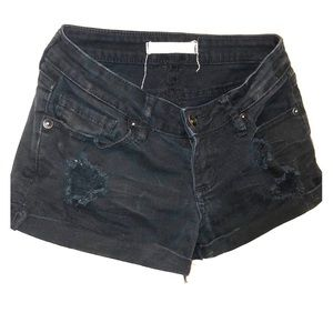Bullhead Black Denim Shorts